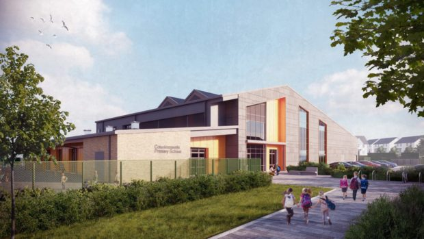 An impression of the new school at Countesswells.