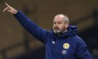 Scotland Manager Steve Clarke during the 4-0 defeat of Faroe Islands.