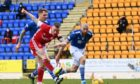 Jonny Hayes scores to put Aberdeen 1-0 up against St Johnstone.