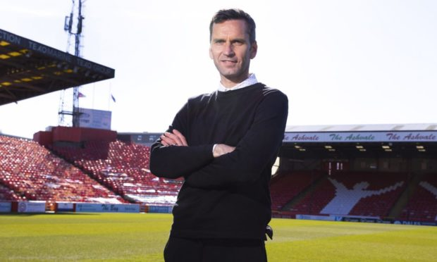 Aberdeen manager Stephen Glass at Pittodrie.