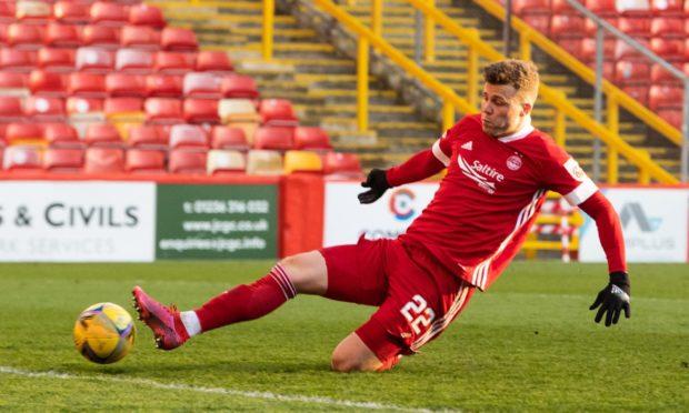 Florian Kamberi scored in Aberdeen's Scottish Cup last-16 win against Livingston.