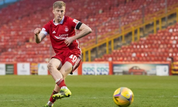 Ross McCrorie scores the winning penalty kick against Livingston - and Stephen Glass hopes he can play in the next round of the Scottish Cup on Saturday.