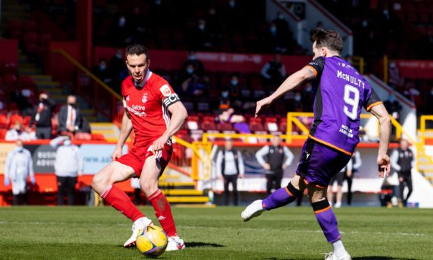 Marc McNulty scores to make it 3-0 Dundee United