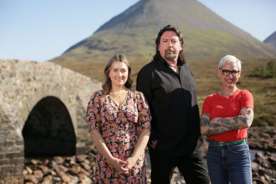 Scotland's Home of the Year judges, from left. Kate Spiers, Michael Angus and Anna Campbell-Jones.
