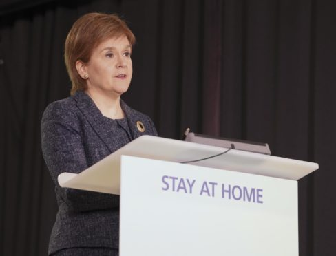 To go with story by Katie Paterson. COVID-19 press conference - 15 March 2021 Picture shows; COVID-19 press conference - 15 March 2021 Scottish Government COVID-19 press conference at St. Andrew's House, Edinburgh with the First Minister, Nicola Sturgeon and Chief Medical Officer for Scotland, Dr Gregor Smith. Edinburgh. Supplied by Scottish Government Flickr Date; 15/03/2021