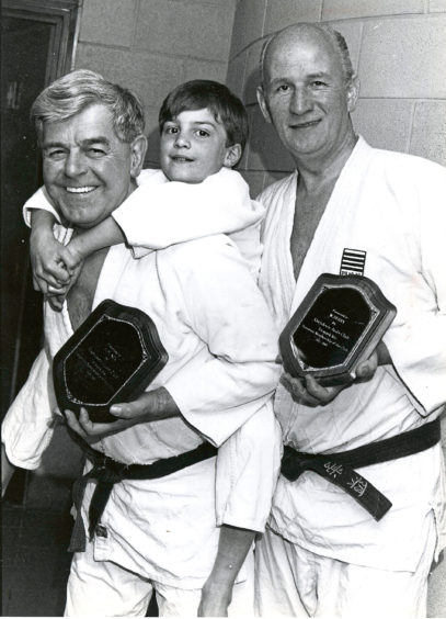 1991 - Aberdeen Judo Club members Harry Black, left, Murray Stewart, 7, and Bill Berry
