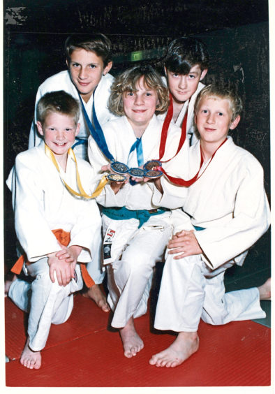 1991 - Five of the seven medalists at the Scottish Junior Judo Championships