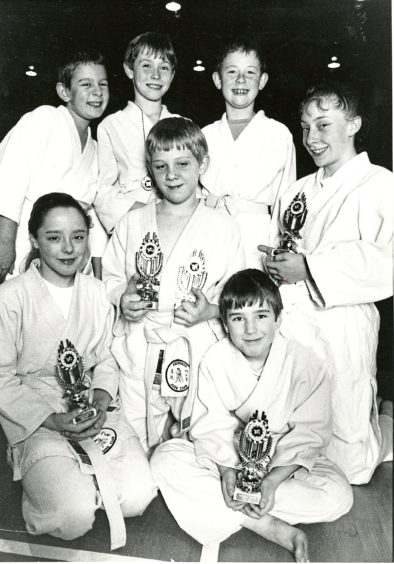 1992 - Members of Aberdeen Judo Club's junior squad with their trophies