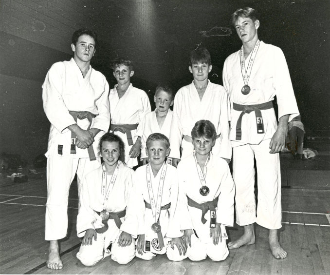 1990 - This team won five medals between them at the Scottish Junior Championships in Edinburgh