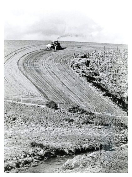 1986 - Graceful curves are added to the landscape as barley sowing gets under way at Easter Hatton, near Murcar