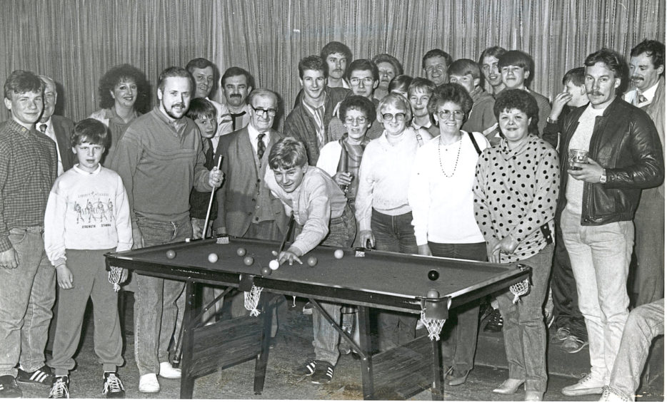 1987 - Some of the competitors taking part in the council's games nights in the Holburn Bar
