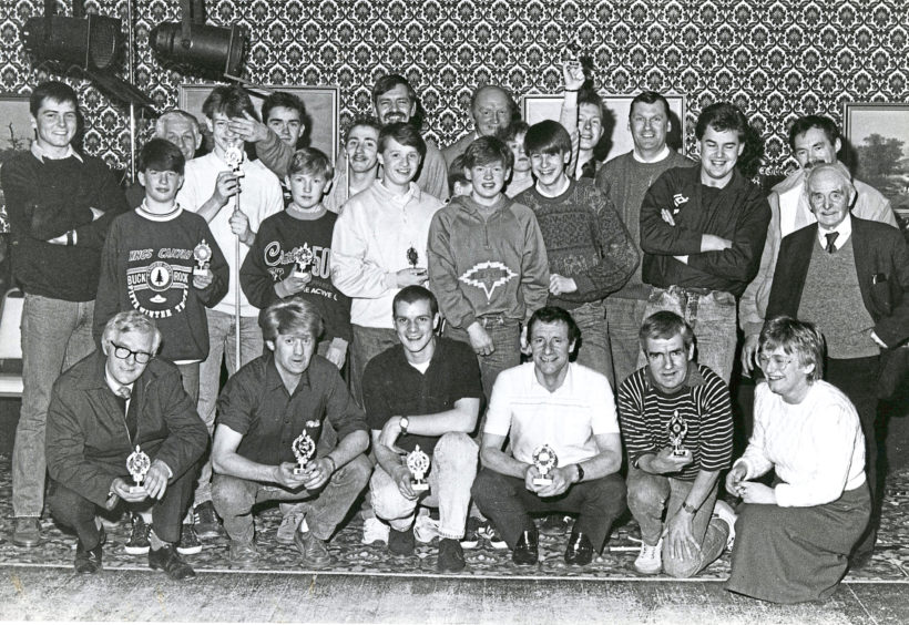 1988 - The Albyn House team wins the Ferryhill Games event – Ferryhill Youth Club were second and a police team third