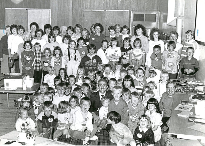 1988 - Smiles all round at the Ferryhill South Church Summer Club where children from the ages of five to 12 could enjoy games, painting, singing and modelling