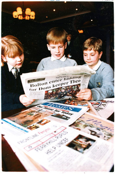 1996 - Elizabeth Adamson, Graham Taylor and David Taylor designed a newspaper as part of a schools competition