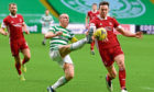 Celtic's Scott brown and Aberdeen stalwart Andrew Considine in action earlier in the season.