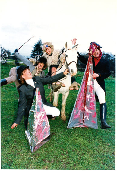 1997: A pantomime on horseback was organised at the Hayfield Riding School, Hazlehead, Aberdeen.