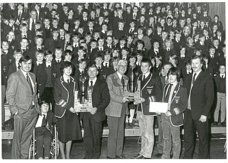 1982: Aberdonians drop enough litter in a year to cover Hazlehead Park six feet deep according to a Keep Grampian Beautiful film shown at Hazlehead Academy. Pupils and staff were assembled for the presentation of trophies for the Best Kept School in Aberdeen and Best Kept School in Grampian to the academy.