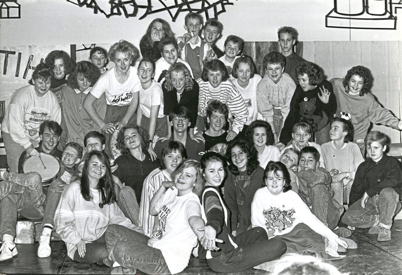 1988: The cast of Hazlehead Academy's production of Burkin's The Game which will be presented in the academy for three nights, starting tonight. Pupils from all years are taking part in the production which is being organised by the drama department.