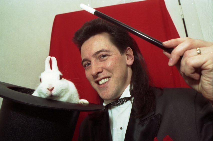 1993 - Magician Garry Seagraves and Basil the rabbit are performing in the Stars of Tomorrow competition at His Majesty's Theatre.