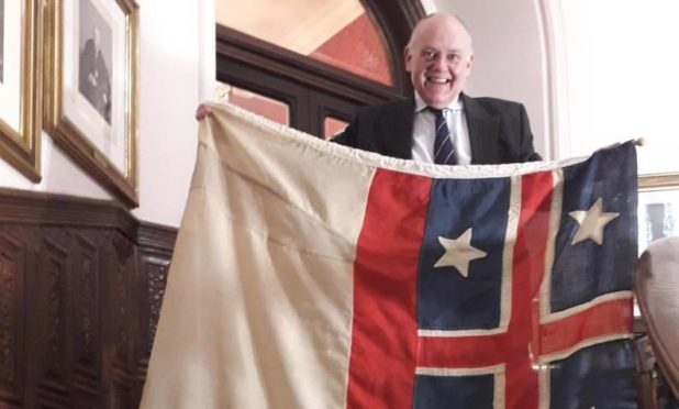 The flag mystery was vexing keen historian Lord Provost Barney Crockett.