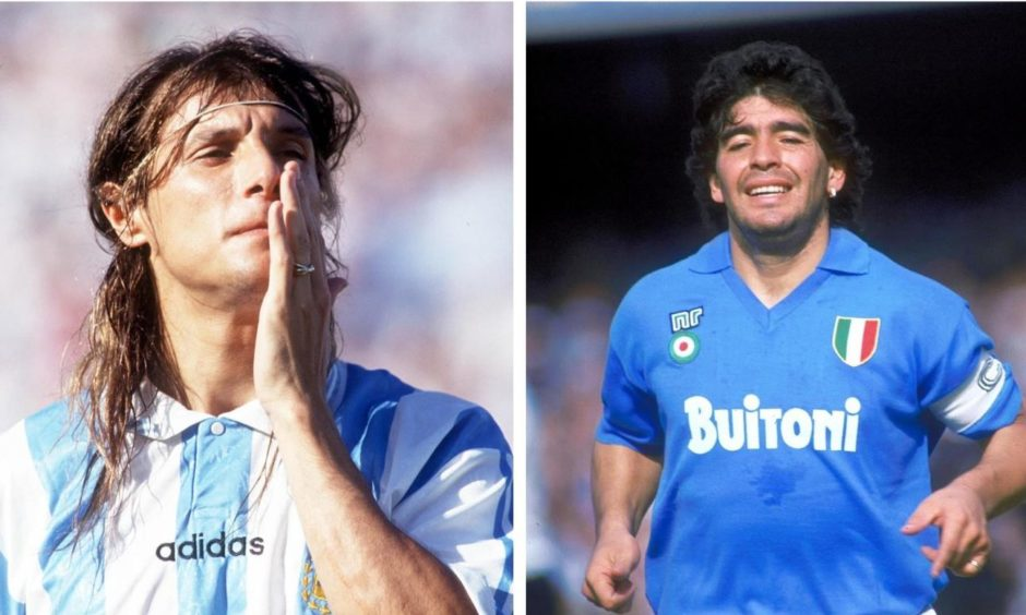 Argentina legends Claudio Caniggia and Diego Maradona remain gods in Dundee and Naples.