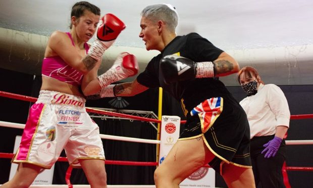 Estelle Scott and Kirsty Biswas in action at the Northern Hotel, Aberdeen.