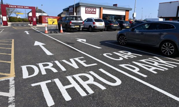 New road markings at the Bridge of Don retail park have been put in place to try and ease gridlock