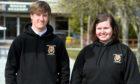 Mackie Academy pupils Lachlan Mcalpine and Blythe Primrose
