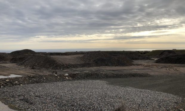 The site of the proposed IBA storage and processing facility.