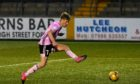 Hamish Ritchie scores for Peterhead against Forfar