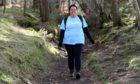 Emma completing the last walk on Sunday.