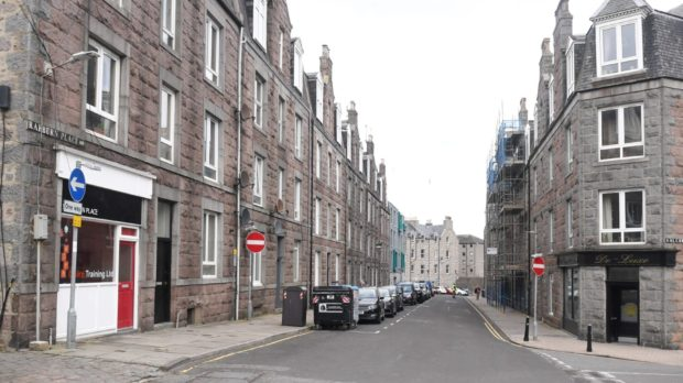 Police sealed off Raeburn Place as they investigated the incident.