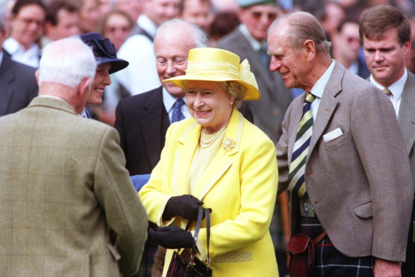 The Queen and Prince Philip arrive at the Braemar Highland Games
