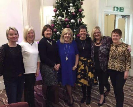 From left: Linda McLeod, Muriel Milne, Moira Tait, Maureen Tough, Audrey Kirkpatrick, Carolyn McAllan and Gail Armstrong at the Mercure Aberdeen Caledonian Hotel