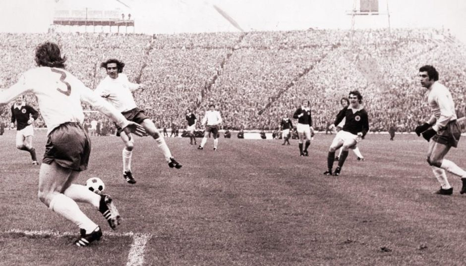 Joe Jordan scored 11 times in his 52 Scotland outings, but this is the only one against England.