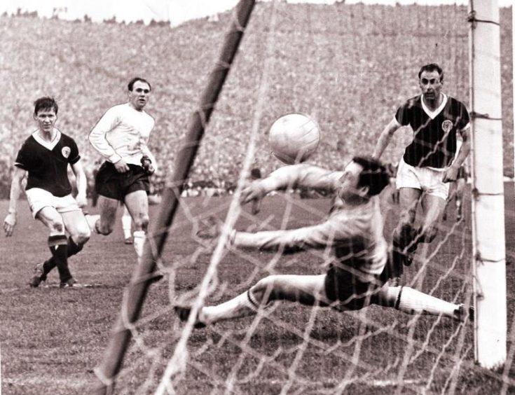 John White effort v England's Gordon Banks.