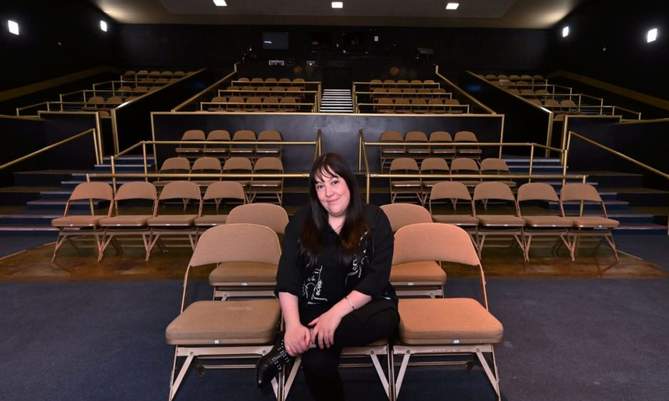 Socially distanced seating in Aberdeen Arts Centre