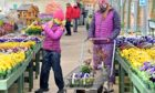 Garden enthusiasts were keen to visit stores on the first day of opening.