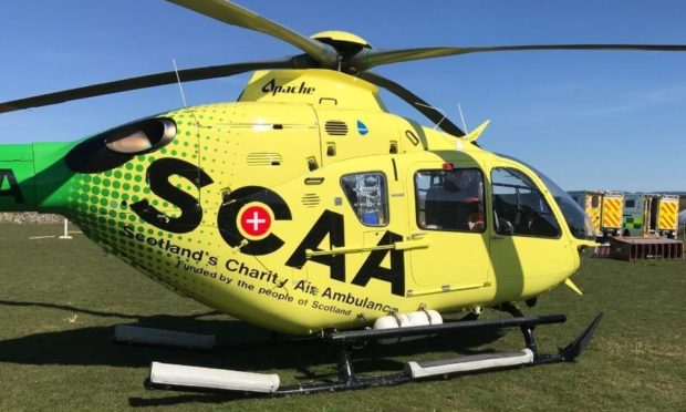 The SCAA Helimed 79 at the scene.
