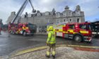 Firefighters were called to make sure no further masonry would fall to the ground in Rosemount Place