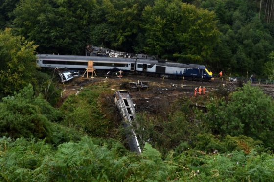 The derailment took place last August.