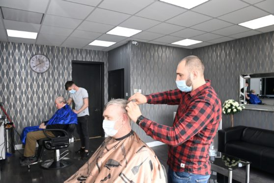 You can use Check-In Scotland to check in to barbers Gentleman's Barber,  Banchory.