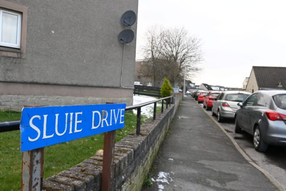 The incident happened at an address on Sluie Drive, Dyce.