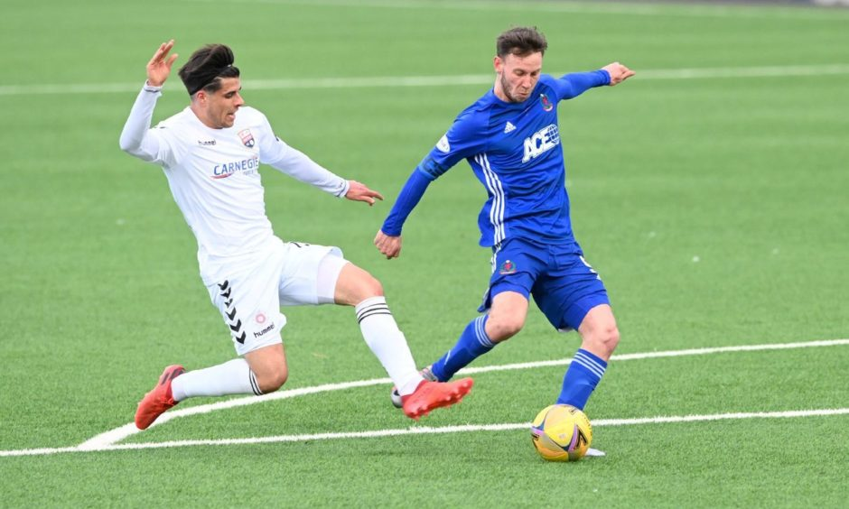 Mitch Megginson struck twice for Cove Rangers at Montrose.