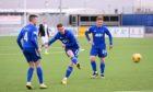 Cove Rangers goalscorer Rory McAllister takes aim.