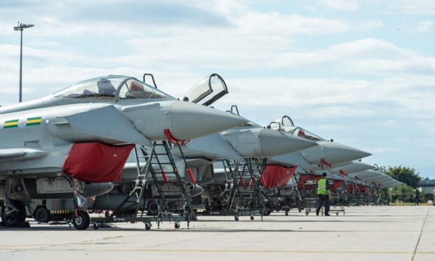 Typhoon jets constantly stand ready to respond at RAF Lossiemouth.