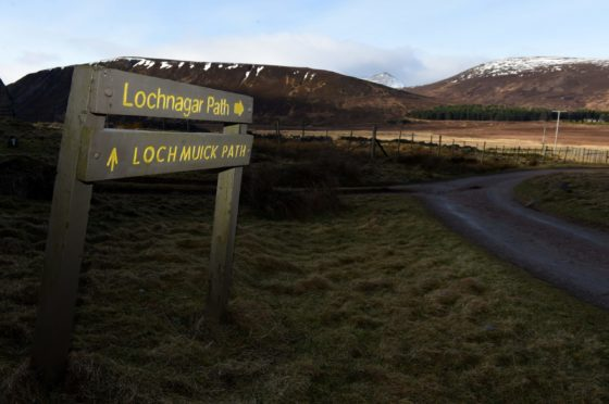 Lochnagar, where the injured skier was found this afternoon. Picture by Kenny Elrick