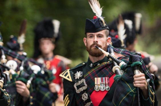 Pipe Major Colour Sergeant Peter Grant
