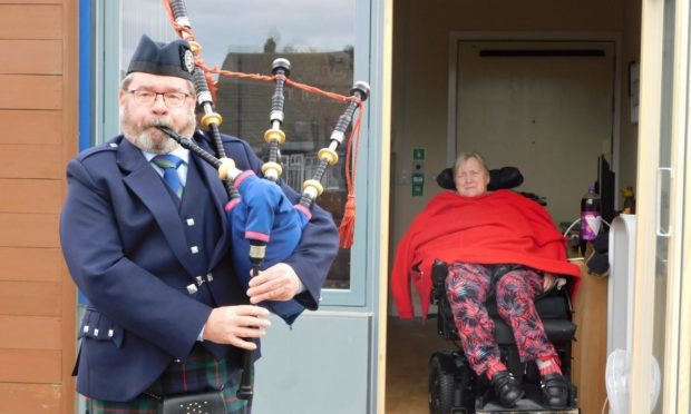 Piper Graeme Thom and Jean Kemp at Dee View Court.