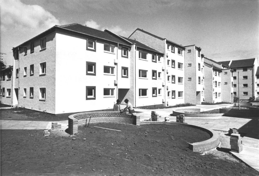 1976 - Probably one of the most attractive housing developments in Aberdeen is nearing completion in the Seaton area of King Street.